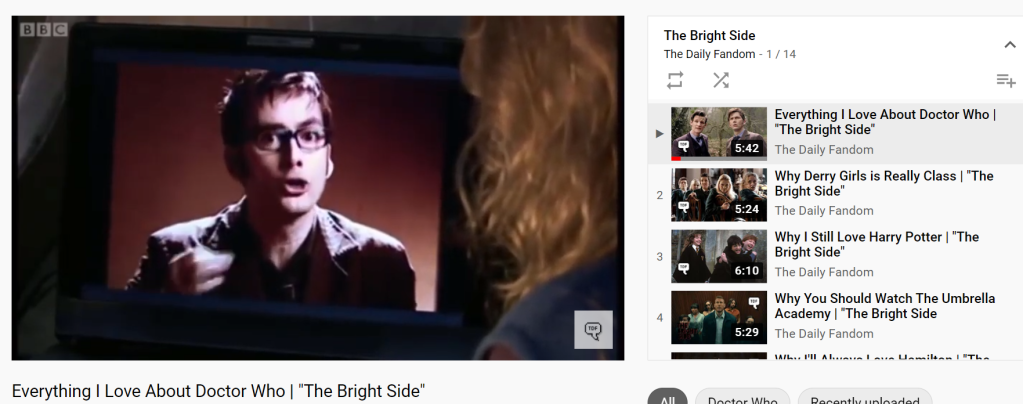 The Daily Fandom runs a YouTube Channel with The Bright Side playlist.